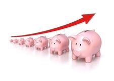 Conceito das economias Fotografia de Stock Royalty Free
