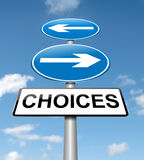 Conceito das escolhas. Imagem de Stock Royalty Free
