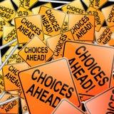 Conceito das escolhas. Imagens de Stock