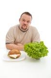 Conceito das escolhas da dieta Imagem de Stock