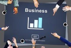 Conceito das estatísticas da carta de barra da organização de negócios Fotografia de Stock Royalty Free