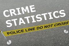 Conceito das estatísticas do crime ilustração royalty free