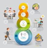 Conceito das estratégias do crescimento do negócio Imagens de Stock