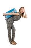 Conceito das férias do curso com bagagem Imagens de Stock Royalty Free