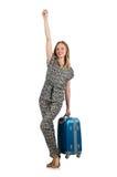 Conceito das férias do curso com bagagem Foto de Stock Royalty Free