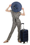 Conceito das férias do curso com bagagem Foto de Stock