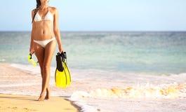 Conceito das férias dos feriados do curso do verão da praia Fotos de Stock