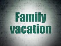 Conceito das férias: Férias em família no fundo do papel dos dados de Digitas Foto de Stock Royalty Free