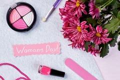 Conceito das felicitações do dia do ` s das mulheres Imagem de Stock