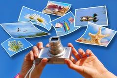 Conceito das fotos das férias de verão Fotos de Stock Royalty Free
