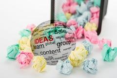 Conceito das idéias no negócio Fotografia de Stock Royalty Free