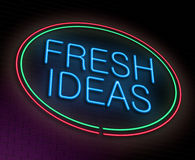 Conceito das ideias frescas. Imagem de Stock
