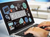 Conceito das ilustrações de Digitas da tecnologia de design web imagem de stock royalty free