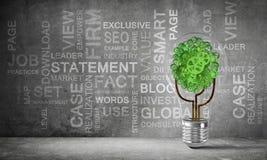 Conceito das inovações de Eco por meio da ampola Foto de Stock Royalty Free
