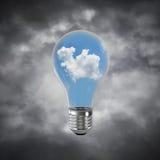 Conceito das inovações de Eco por meio da ampola Foto de Stock