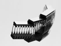 Conceito das microplaquetas foto de stock