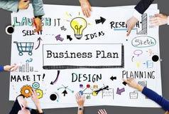 Conceito das operações do processo da estratégia do planeamento empresarial foto de stock