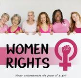 Conceito das oportunidades iguais do feminismo do poder da menina das mulheres imagens de stock royalty free