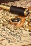 Conceito das pepitas de ouro Fotografia de Stock Royalty Free