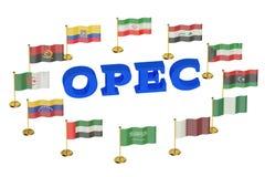 Conceito das reuniões do OPEC Fotografia de Stock