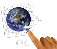 Conceito das soluções do negócio global foto de stock royalty free