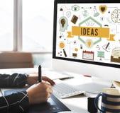 Conceito das táticas da estratégia da proposta do plano de desenvolvimento da ação das ideias Fotos de Stock