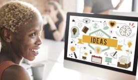 Conceito das táticas da estratégia da proposta do plano de desenvolvimento da ação das ideias Foto de Stock Royalty Free