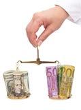 Conceito das taxas de câmbio da moeda Foto de Stock