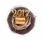 Conceito 2017 das tendências Fotografia de Stock Royalty Free