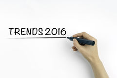 Conceito 2016 das tendências em um fundo branco Fotografia de Stock