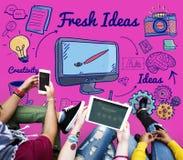 Conceito das táticas da sugestão da inovação das ideias frescas Imagem de Stock