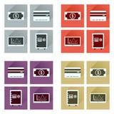 Conceito de ícones lisos com negócio longo da sombra Imagem de Stock Royalty Free