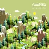 Conceito de acampamento Fotos de Stock Royalty Free