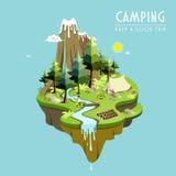 Conceito de acampamento Imagens de Stock Royalty Free
