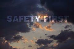 Conceito de advertência do furacão Foto de Stock Royalty Free