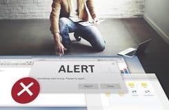 Conceito de advertência interrompido da atenção conexão alerta fotos de stock royalty free