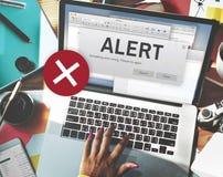 Conceito de advertência interrompido da atenção conexão alerta fotografia de stock royalty free