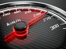 Conceito de alta velocidade - velocímetro do carro Foto de Stock Royalty Free