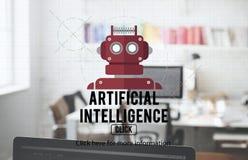 Conceito de Android da robótica do AI do Cyborg do robô fotos de stock royalty free