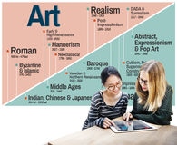 Conceito de Art Abstract Creation Expression Imagination Imagem de Stock