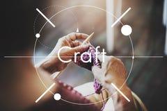 Conceito de Art Handcraft Handmade Skilled Talent da habilidade do ofício imagens de stock royalty free
