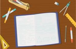 Conceito de artigos do objeto e do ensino universitário da High School Imagens de Stock