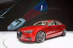 Conceito de Audi A3 - mostra de motor 2011 de Genebra Fotos de Stock Royalty Free