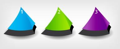 Conceito de bandeiras coloridas para o negócio diferente Ilustração Stock