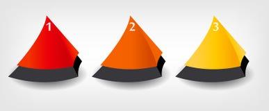 Conceito de bandeiras coloridas para o negócio diferente Ilustração Royalty Free