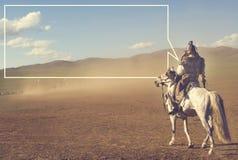 Conceito de Battlefield Fighting Historical do líder do exército imagem de stock royalty free