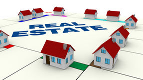 Conceito de bens imobiliários Fotografia de Stock