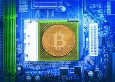 Conceito de Bitcoin Cryptocurrency Fotografia de Stock