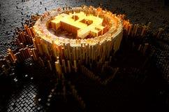 Conceito de Bitcoin do pixel Foto de Stock Royalty Free