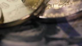 Conceito de Bitcoins e da moeda cripto vídeos de arquivo